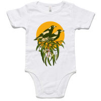 Magpies Organic Cotton Baby Romper Thumbnail