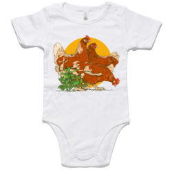 Chicken Baby Romper Thumbnail