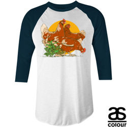 Chicken Baseball Tee Thumbnail