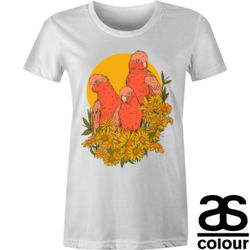 Pink Galahs Maple Tee Thumbnail